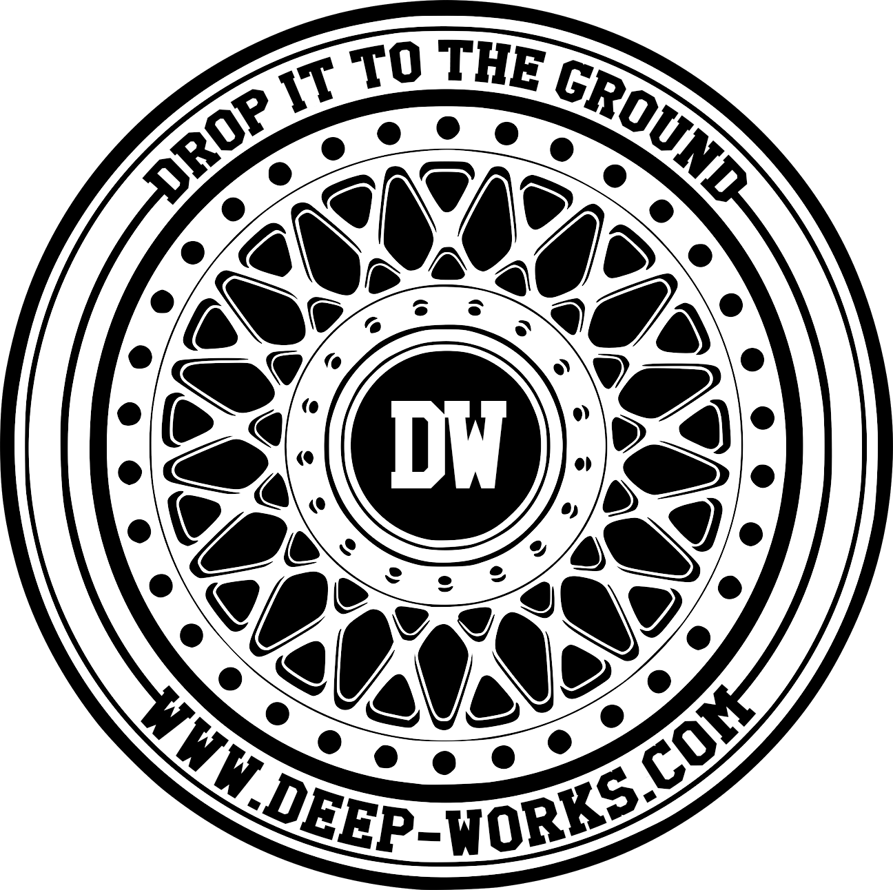 Deep-Works - Drop it to the Ground!-Logo